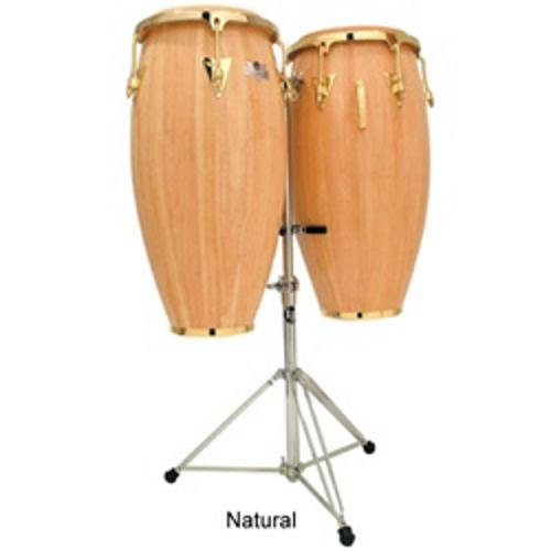 Series Wood Conga Set (Latin Percussion LPC747-AWG Caliente Series 11-Inch and 12-Inch Conga Set with Stand - Natural)