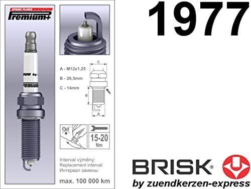 Plus P26 MR14YIR 1977 Lot de 4 Bougies dallumage Brisk Iridium Premium