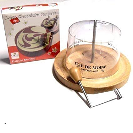 Completamente maaj Tete Choco Ruleta verde pistacho con diseño de capó Tete de Moine