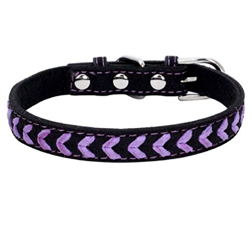 Inteeon Pet Series New color weaving pet collar soft super fiber dog chain cat traction supplies by Inteeon Pet Series