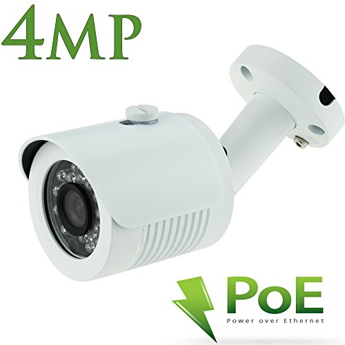 Outdoor POE IP Security Camera-4mp HD IP Bullet Camera - IP66 Waterproof - Wide Angle with 3.6mm lens- 24 LEDs For Clear 65 Feet Night Vision-Alptop (Costumer Services Phone Number compare prices)