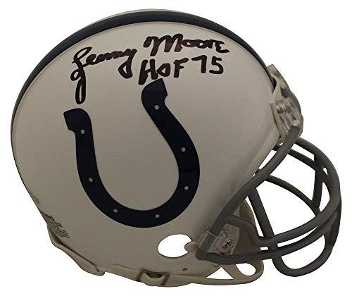 Lenny Moore Autographed/Signed Baltimore Colts Mini Helmet HOF ()