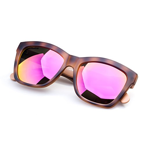 Unisex Street Fashion Sunglasses Square Frame Mirror Lenses For Small - Face Glasses For A Square