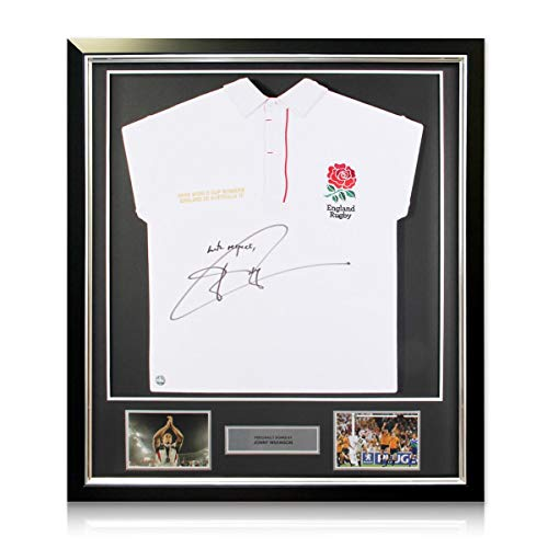 2003 Deluxe Framed - Jonny Wilkinson Signed England Rugby Jersey 2003 Framed - With Respect
