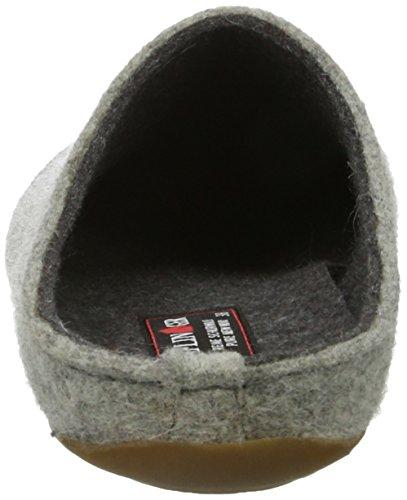 Haflinger Unisex-Erwachsene Everest Lasse Pantoffeln Grau (Steingraumeliert)