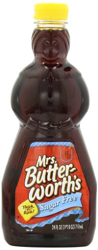 Mrs. Butterworth's Sugar Free Syrup, 24 Ounce (Best Tasting Pancake Syrup)