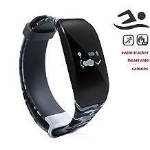 Newyes NBS03 Swimming Smart Watch Fitness Tracker Heart Rate Monitor Sleep Management Smart Bracelet (Blue)