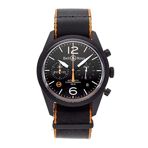 Bell & Ross BR126 Mechanical (Automatic) Black Dial Mens Watch BRV126-O-CA (Certified Pre-Owned)