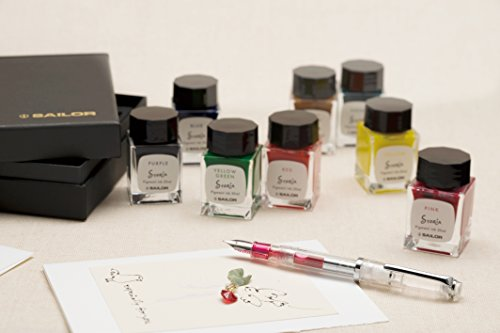 Sailor Fountain Pen mini Bottle 20ml Ink 8 Color Gift Set - Pigment Based '' STORiA '' by Sailor (Image #6)