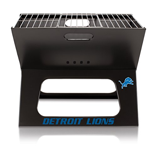 (NFL Detroit Lions Portable Collapsible Charcoal X-Grill)