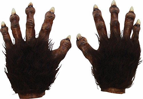 [Wolf Latex Hands Deluxe Adult Accessory] (Werewolf Accessories)
