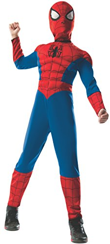 Rubie's Marvel Ultimate Spider-Man 2-in-1 Reversible Spider-Man / Venom Muscle Chest Costume, Child Large - Large One Color