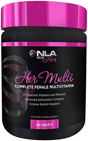 NLA for Her - Her Multi - Complete Female Multivitamin - 23 Essential Vitamins and Minerals, Advanced Antioxidant Complex, Immune System Support - 120 Tablets
