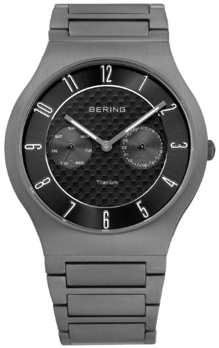 BERING Time 11939-777 Men's Classic Collection Watch with Titan Link Band and scratch resistant sapphire crystal. Designed in Denmark.