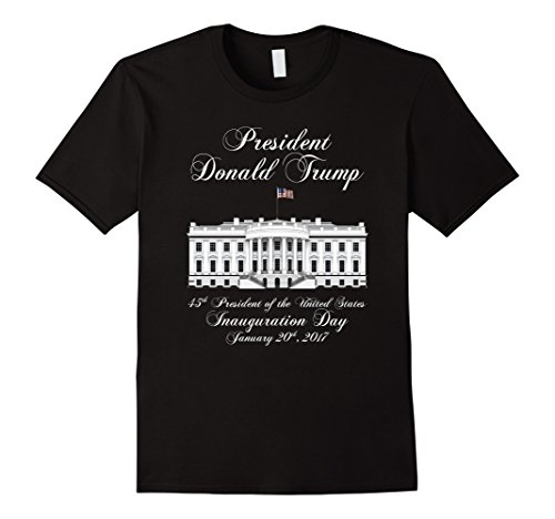 Men's President Donald J. Trump Inauguration Day 2017 T-shirt Large Black
