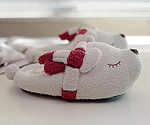Maison Chaussures Chaud Hiver Souple Peluche Minetom 10 Chaussons Animé Dessin Femmes Ours Coton Mousse slip Pantoufles Mignon Anti Polaire Extérieur Intérieur Mémoire UpqUTB