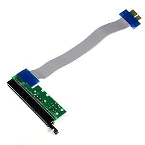 Aobiny PCI-E Extention Cable Flex Ribbon 1X To 16X Riser Card Adapter Power Molex