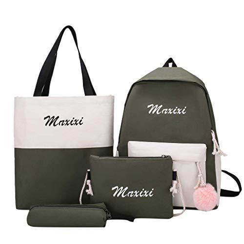 Women Ladies Girls 2019 Fashion New Splice Backpack Shoulder Bag 6PC Student Double-shoulder Bag Messenger Handbag
