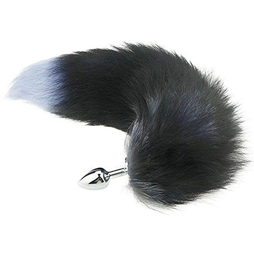 FYFNC Fluffy Soft Faux Fox Tail Plug Toys Women Men Cosplay Costume Accessories for Adult Novelty Party Supplies (Black) - 863 by FYFNC