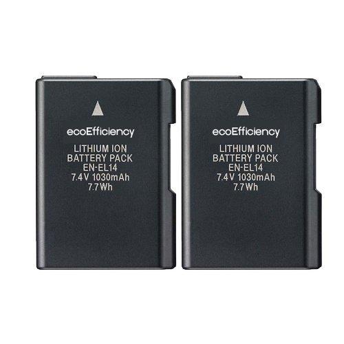 Baterías EN-EL14A Nikon D3500, D3100, D3200, D3300, P7700
