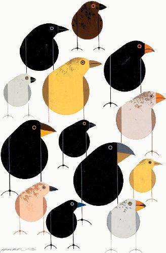 Darwin's Finches - Charley Harper Lithograph
