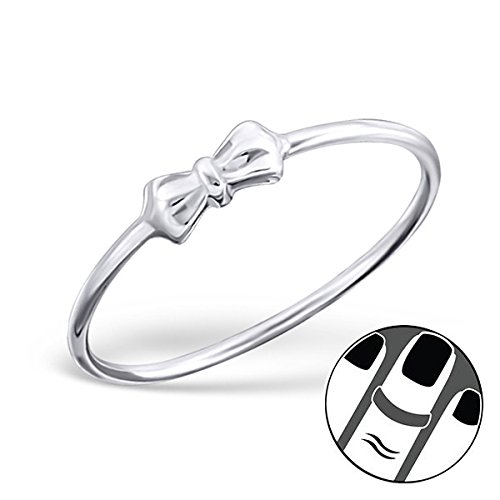 Pro Jewelry 925 Sterling Silver Bow Above Knuckle Ring Mid Finger Top 6067