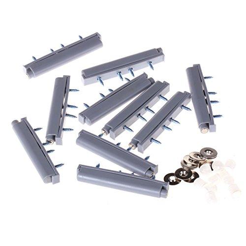 10pcs Push to Open System Damper Buffer For Cabinet Cupboard Door MagneticTip
