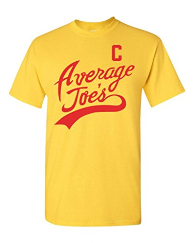 Average Joe's Movie Costume DT Adult T-Shirt Tee (Large, Yellow) - Globo Gym Dodgeball Costumes