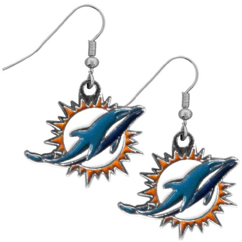 (NFL Indianapolis Colts Chrome Dangle Earrings)