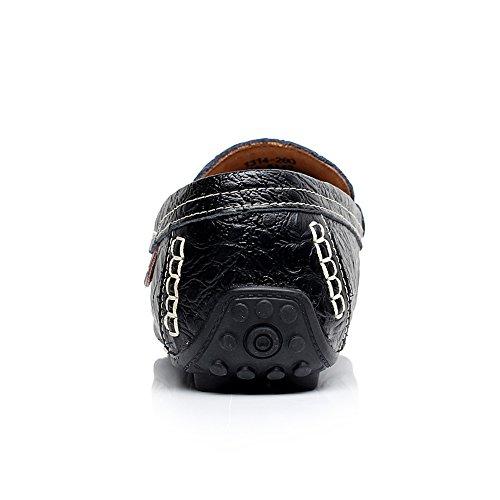 Rismart Menns High-end Vannbestandig Krokodille Stempling Skinn Kjøre Sko Elegante Varme Forings Loafer Flatene Svart 1314 Us8