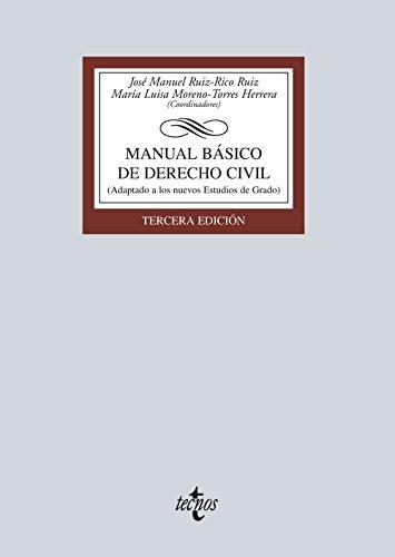 Descargar Libro Manual Básico De Derecho Civil. Adaptado A Los Estudios De Grado José Manuel Ruiz-rico Ruiz