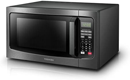 Toshiba EM131A5C-BS Microwave Oven with Smart Sensor Easy Clean Interior, ECO Mode and Sound On-Off, 1.2 Cu. toes, Black Stainless Steel