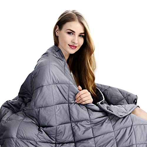 Cheap ShinePick Adult Weighted Blanket 20 lbs | 60 x80 | Premium Quality Heavy Blanket for Hot & Cold Sleepers (Grey) Black Friday & Cyber Monday 2019