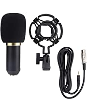 Recording Microphone, Live Microphone BM800 Lightweight Wired Handheld Capacitance Microphone Online Karaoke System Live Recording Microphone (Black)
