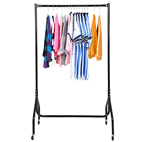 Yosoo Rolling Clothes Organizer - 3FT Heavy Duty Rolling Garment Rail Clothes Home Shop Hanging Display Rack Stand Organizer Shelf -Garment Rack with Wheels