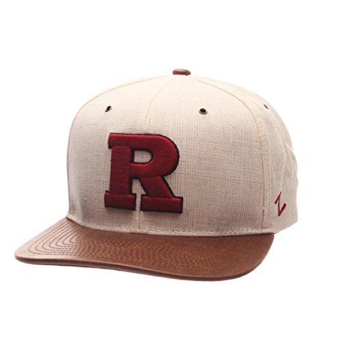 Zephyr NCAA Rutgers Scarlet Knights Adult Men's Havana Snapback Hat, Adjustable Size, Ivory/Dark Brown ()