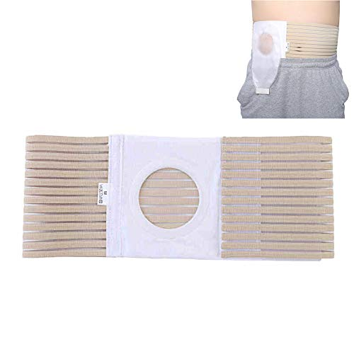 LANGYINH Stoma Belt,Post Colostomy Abdominal Stoma Bandage,Hernia Colostomy Belt,Breathable,Durable,for Stoma ()