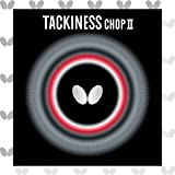 Butterfly Tackiness Chop II Table Tennis Rubber - Butterfly Table Tennis Rubber - 1.5 mm or 1.9 mm - Red or Black - 1 Inverted Table Tennis Rubber Sheet - Professional Table Tennis Rubber