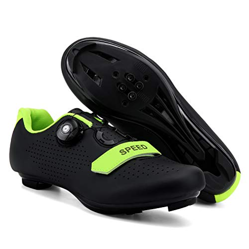 Etaclover Spin Cycling Shoes for Women Road Cycling Shoes Compatible SPD//SPD-SL Double Ratchet MTB Cleat Exercise Biking Breathable Comfortable Cycling Shoes Women