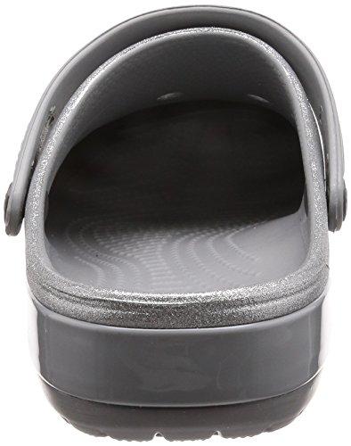 Crocs Crocband Glitter Silver Clog Crocs Crocband Glitter Clog Evw56w
