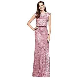 Long Sequin Blouseon Bridesmaid Dress