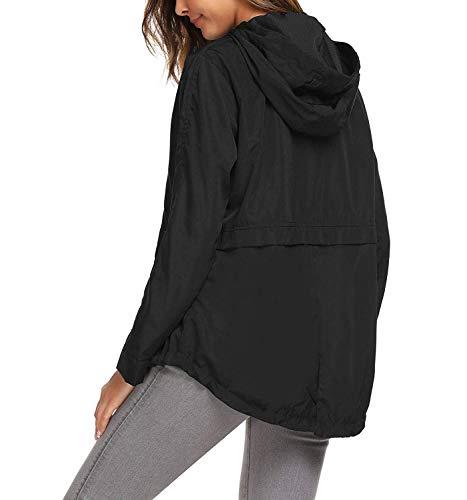 Casual Impermeable Cremallera Para Con Y Mujer Libre Liviano Mujeres Cortavientos Clásico Al Schwarz Aire Fashion Laisla q1XREW