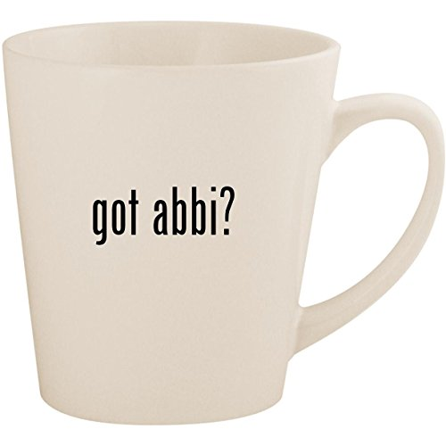 got abbi? - White 12oz Ceramic Latte Mug Cup for sale  Delivered anywhere in USA