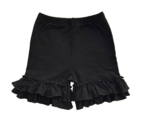 (Coralup Baby & Little Girls Ruffles Cotton Shorts)