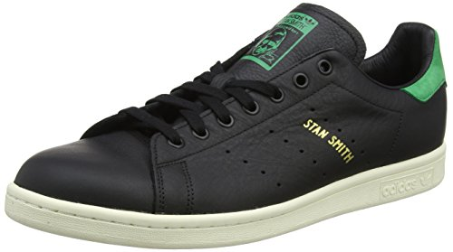 Uomo Smith Black Black Collo Green Sneaker Verde Basso a Core Nero adidas Stan Core YCq5w5f