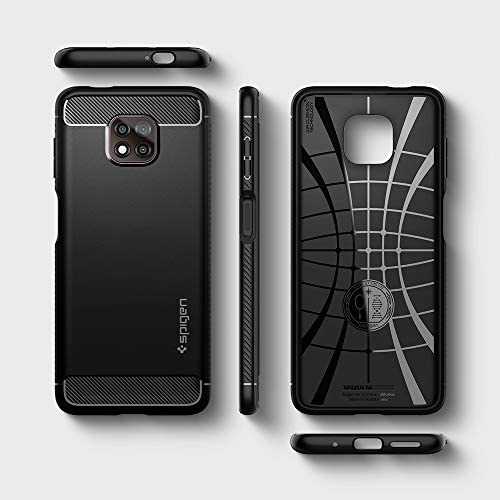 Spigen Rugged Armor Designed for Moto G Power (2021) Case [NOT Compatible with Moto G Power (2020)] - Matte Black