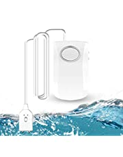 GuDoQi Watermelder, WLAN wateralarm, 130 dB, superluid waterlekalarm, wifi-watersensor, waterlekdetector met Tuya/Smart Life app, draadloze waterleksensor, waterbewaker voor keuken, badkamer, kelder