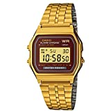 Casio Vintage Collection Digital Unisex Bracelet Watch (Gold)