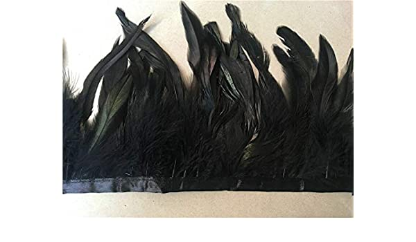 1//5//10 yards Rooster tail feathers ribbon 5-7inch//12-17cm natural floating