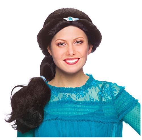 Princess Jasmine Wig Adult Jasmine Costume Wig for Women Adult Arabian Costume Black ()